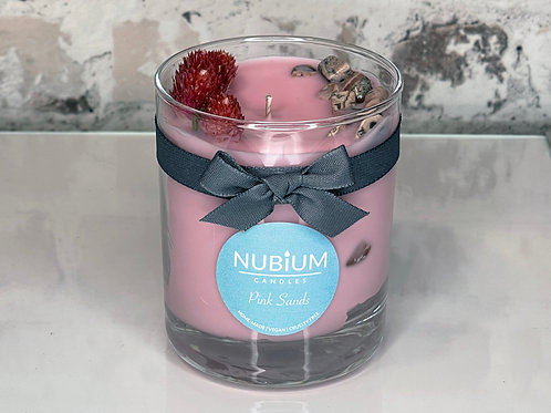 Pink Sands Crystal Candle