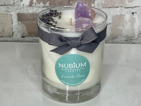 Lavender Blanc Crystal Candle