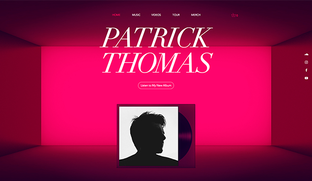 Solo Artist website templates – Electronic Artist