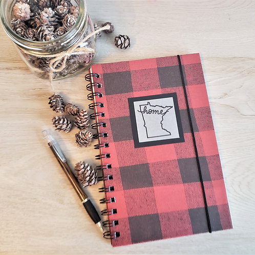 "Buffalo Plaid Red ""MN Home"""