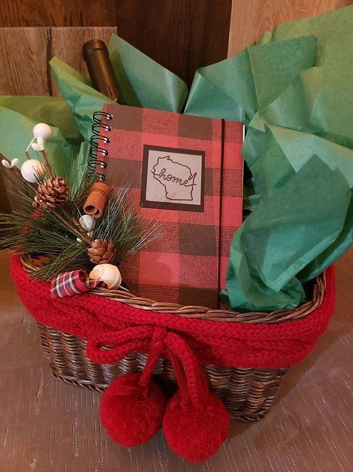 "Buffalo Plaid Red ""WI Home"""