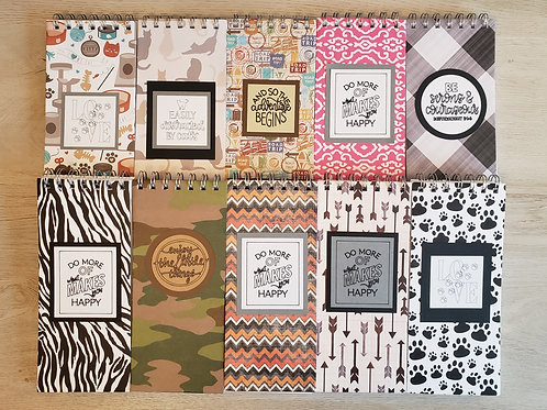 Variety Pack of 10 Lined Notebooks