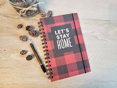 "Buffalo Plaid Red ""Let's Stay Home"""