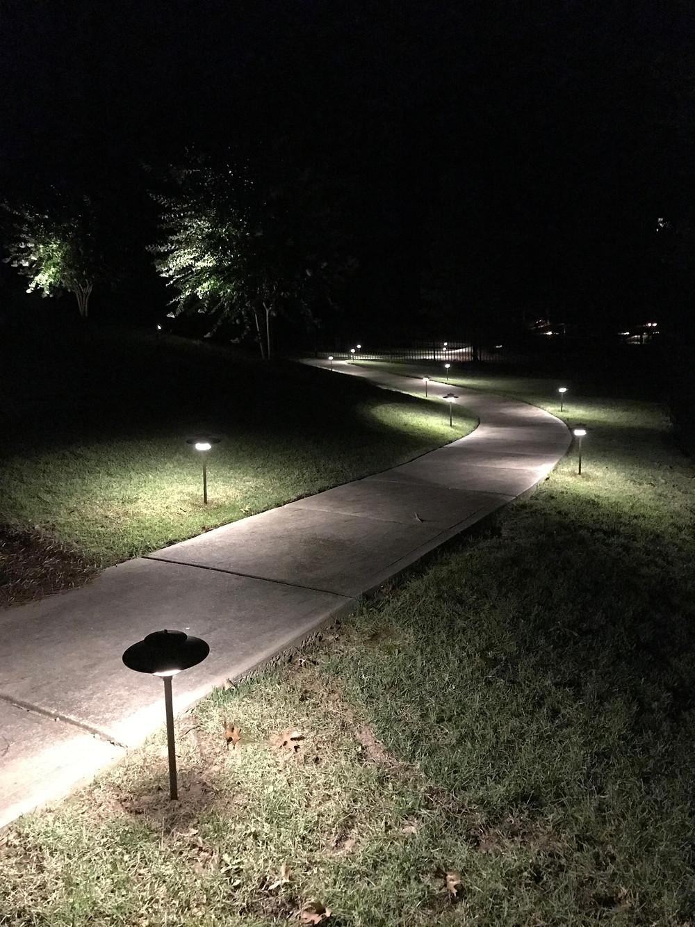 outdoor lighting at night