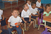 Smiling faces while we learn