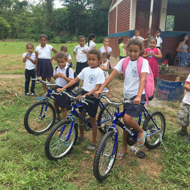 A bicycle donation!