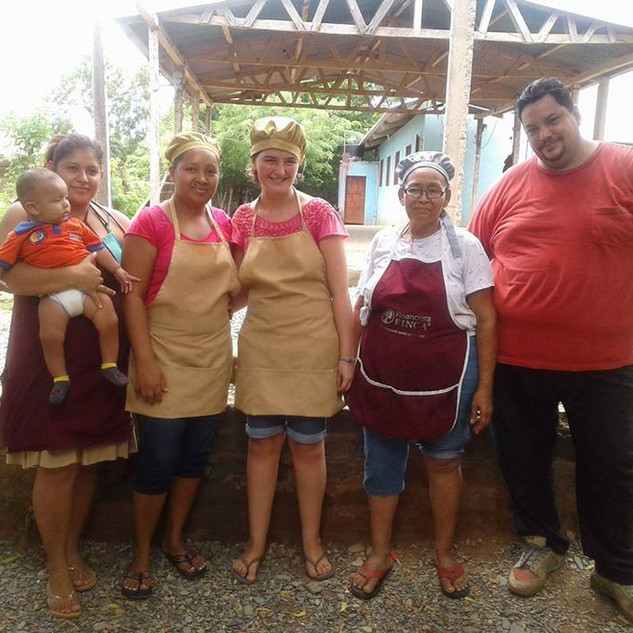 Pastor Carlos Manuel with the cooks