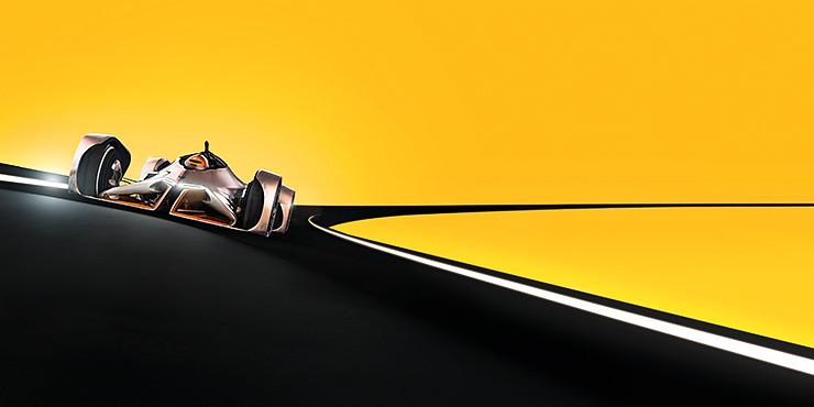 Im Projekt DHL-Racing wird es in der bildbotschaft grafisch und farbenfroh.