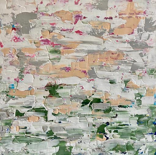Frost Winter 50x50cm Acrylic on Canvas. Unframed £450
