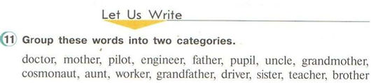 гдз английский язык 3 класс верещагина притыкина Group these words into two categories