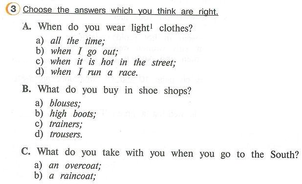 Английского 4 класса учебника Choose the answers which you think are right