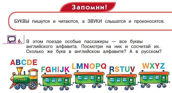 Верещагиной английский язык 1 класс Английский алфавит