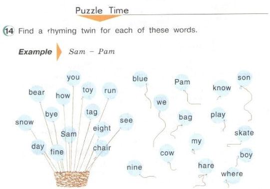 гдз 3 класс английский язык учебник. Puzzle time. Рисунок. 3 класс. Урок 3, упр 14