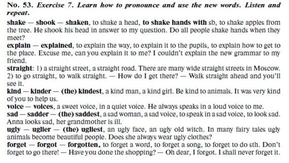 Learn how to pronounce and use the new words, 53.  