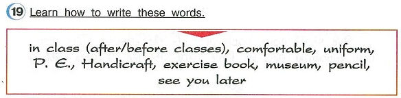 Learn how to write these words.  Английский язык 4