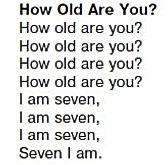 Песня how old are you английский верещагина 1 класс аудио 12