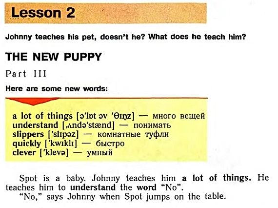 верещагина английский язык 3 класс reader. The new puppy. Part 3. Рисунок 1. 3 класс, reader book. Урок 2