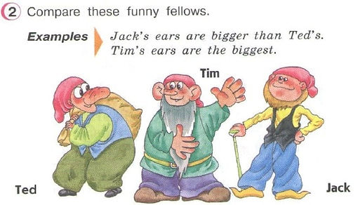 compare these funny fellows гдз англ верещагиной 3 классу