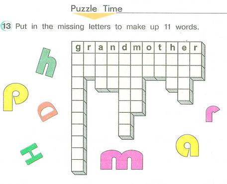 гдз английский язык 3 класс верещагина притыкина. Puzzle grandmother. Рисунок. 3 класс. Урок 1, упражнение 13.