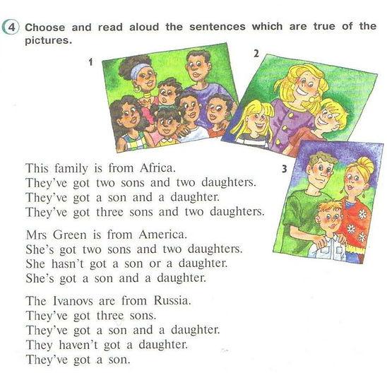 гдз по английскому 3кл верещагина, 3 класс, урок 1, номер 4, This family is from Africa