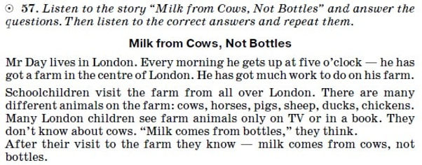 Listening Comprehension Lesson 49 milk from Cows, Not Bottles