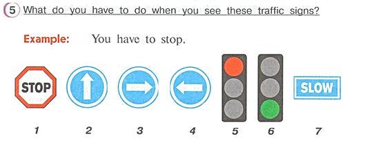 Гдз по английскому 4 класс верещагина учебник часть 2 упражнение 5  What do you have to do when you see these traffic signs?