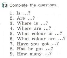 английский язык 3. Exercise 13. Рисунок. 3 класс. Урок 3, упр 13