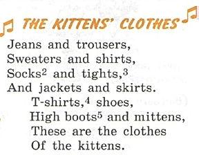 The kittens clothes Домашний гдз по английскому 3 класс верещагиной урок 59