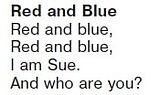Детский стих Red and Blue  Послушать запись24 урок 16 Верещагина 1 класс