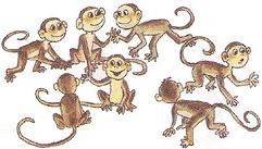 английский язык верещагиной. Exercise 4, monkeys. 3 класс, урок 2, упр 4