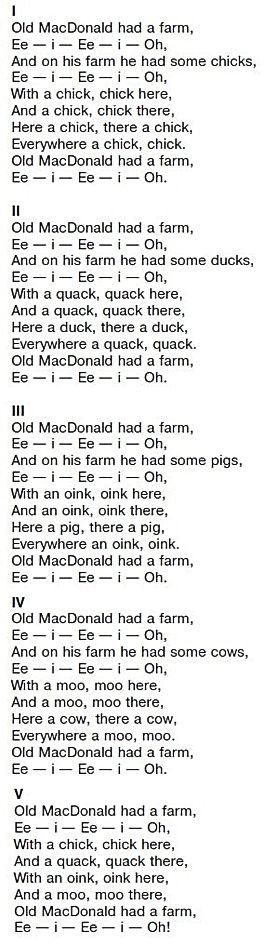 песня old macdonald аудио 108