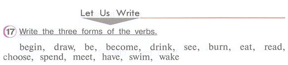 гдз по английскому 4 верещагину учебник Write the three forms of the verbs.