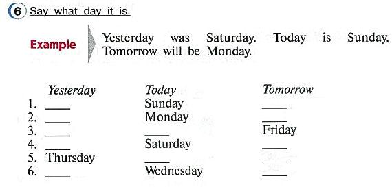Say what day it is. Гдз по английскому языку 4класс верещагину