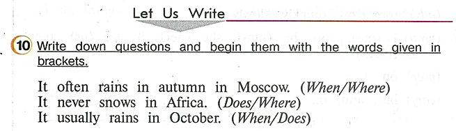 Английского 4 класса верещагина аудио Write down questions and begin them with the words given in brackets