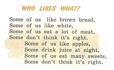 """Верещагина 3 класс стихотворение """"Who likes what""""аудио. Exercise 8. Рисунок. 3 класс, урок 22, упр 8"""