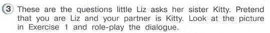 Учебник английский язык 3 класс. Questions little Liz. Рисунок. 3 класс. Урок 3, упр 3