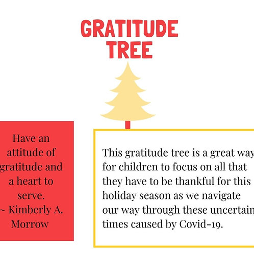 Gratitude Christmas Tree Activity