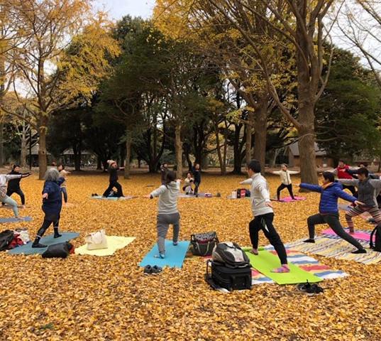 代々木公園park yogaイベント