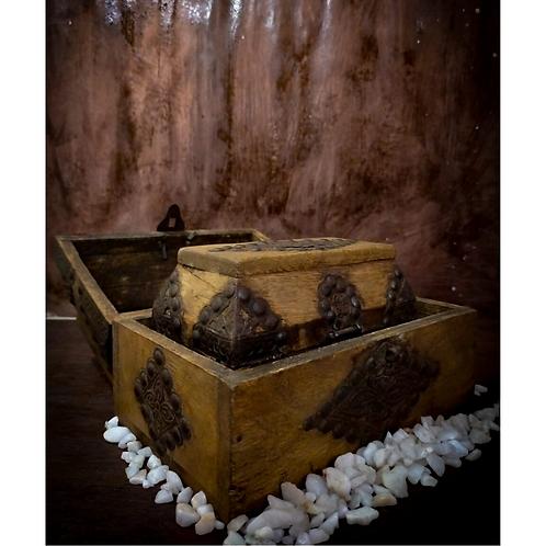 Timeworn Wooden Jewellery Box