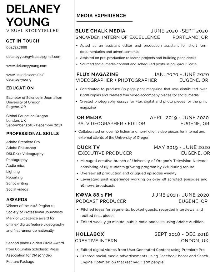 White and Black Sleek Minimalist Resume.