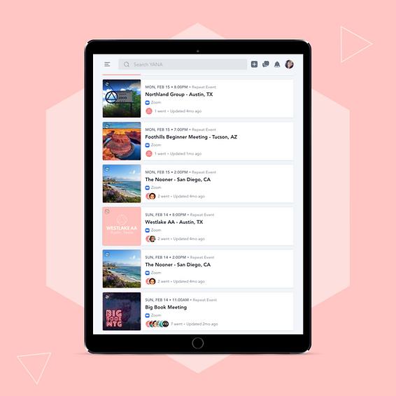 Online AA Meeting for iPad