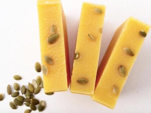 Pumpkin Soap - Unscented, Sensitive Skin, Eczema, Psoriasis Prone