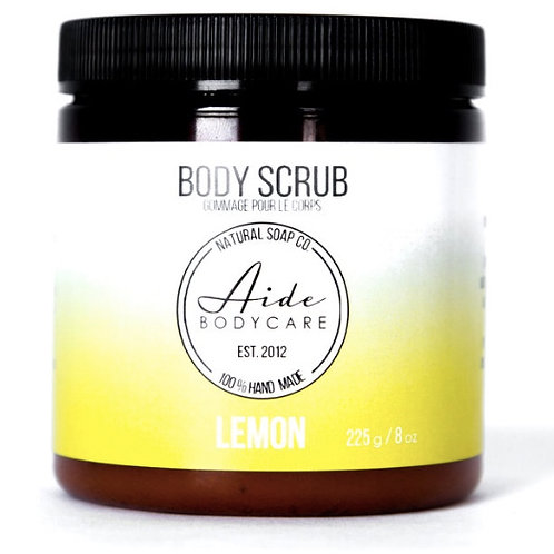 Lemon Body Scrub, Exfoliating Sugar Scrub