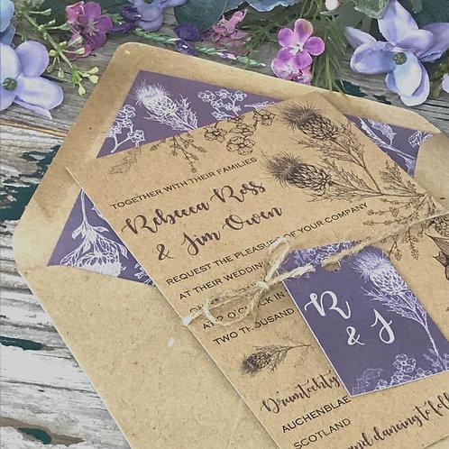 Thistle Garden Wedding invitation