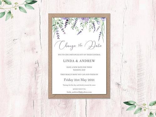 Change the date Lavender garden