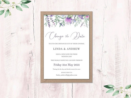 Change the date card Thistle and Heather