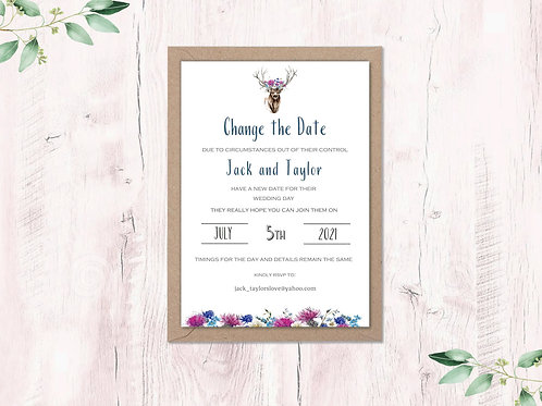 Change the date card Stag Crown