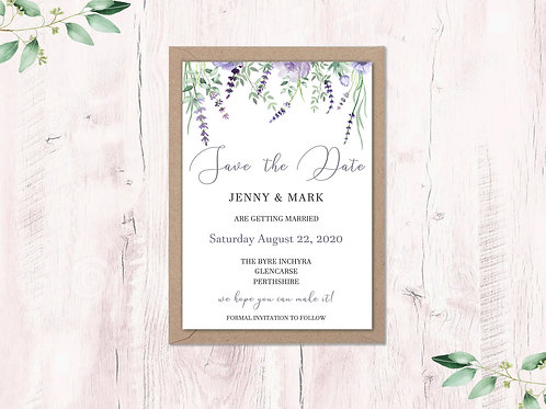 Lavender Save the Dates