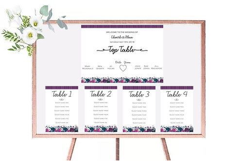 Table plan sesons collection