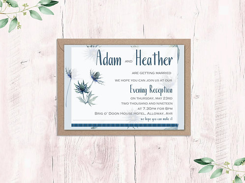 Abstract thistle Evening Invite